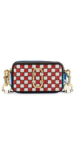Marc Jacobs Snapshot Sequins Checker Small Camera Bag