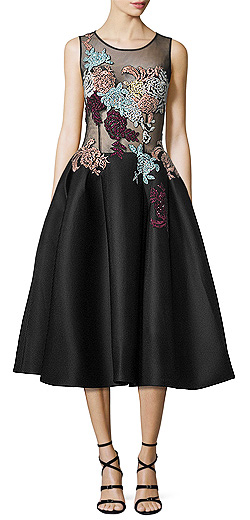 Jovani Sleeveless Embroidered Fit & Flare Dress