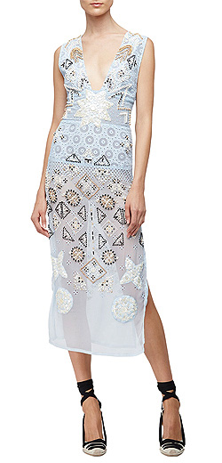 Altuzarra Embellished-Chiffon Eyelet Dress