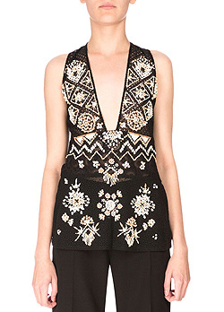 Altuzarra Sleeveless Embellished Lace Tunic