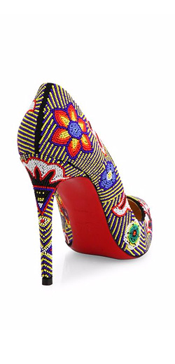 Christian Louboutin Miss Taos Beaded Pumps