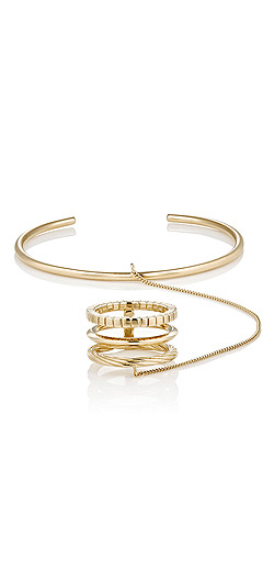 SAINT LAURENT Gold Vermeil Hand Bracelet