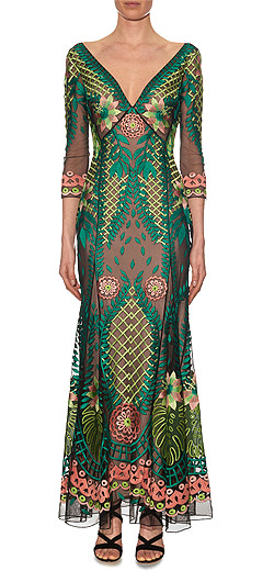 TEMPERLEY LONDON Belle embroidered maxi dress