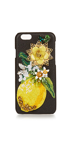 DOLCE & GABBANA Crystal-embellished leather iPhone® 6 case
