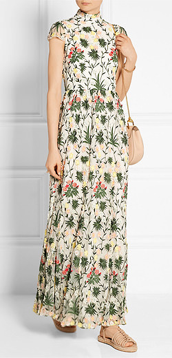 ALICE + OLIVIA Arwen embellished embroidered tulle gown