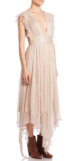 Free People My Antonia Deep V-Neck Maxi Dress