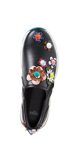Fendi 'FFast' Embellished Slip-On Sneaker