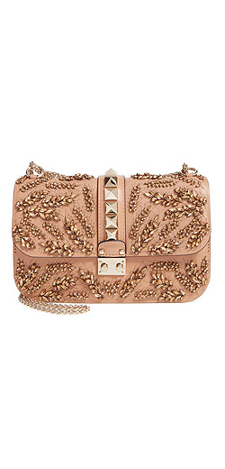 VALENTINO GARAVANI 'Glam Lock' embroidered shoulder bag