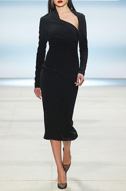 Cushnie et Ochs Stella Asymmetric-Neck Sheath Dress