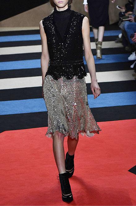 Derek Lam Sleeveless V-Neck Embellished Blouse