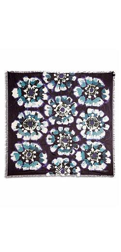 Burberry Prorsum Tie-Dye Floral Square Scarf