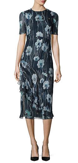 Jason Wu Watercolor Floral-Print Silk-Blend Sheath Dress