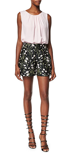 Giambattista Valli Daisy-Print Floral Shorts
