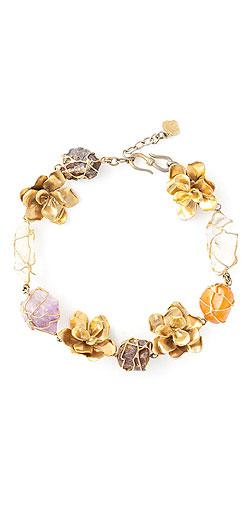 YVES SAINT LAURENT VINTAGE floral necklace