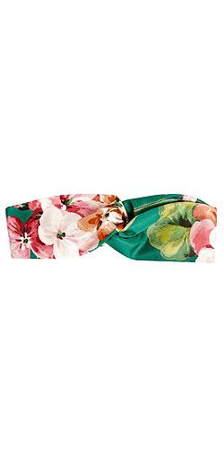 GUCCI Floral-print duchesse-silk headband