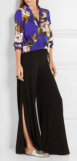DOLCE & GABBANA Floral-print silk-charmeuse shirt