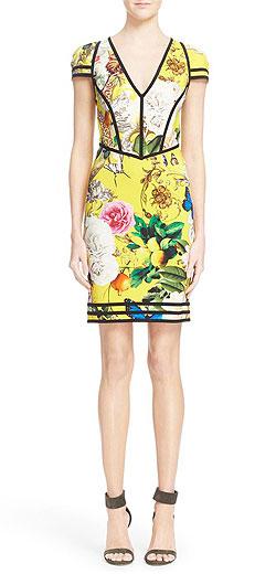 Roberto Cavalli 'Wonderland' Print Sheath Dress