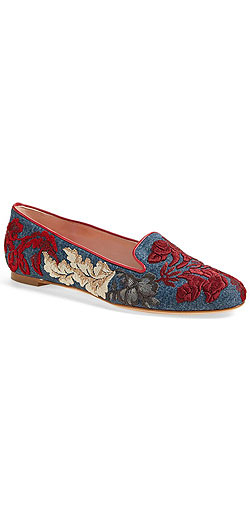 Alexander McQueen Embroidered Floral Loafer