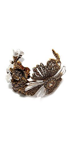Alexander McQueen Floral Cuff Bracelet
