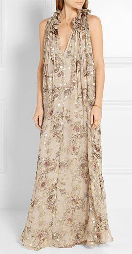 Chloé Floral-print fil coupé silk-blend georgette maxi dress