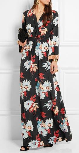 Etro Embellished floral-print silk maxi dress