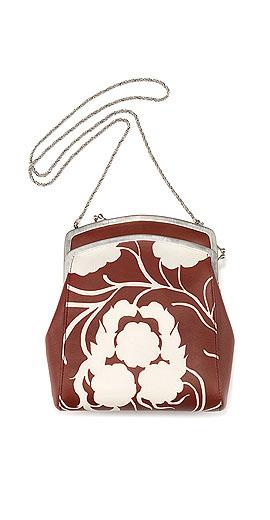The Row Jarnette Floral-Print Leather Shoulder Bag