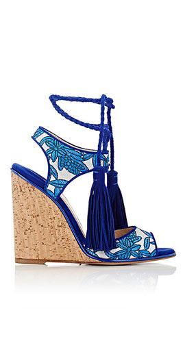 Paul Andrew Tianjin Ankle-Tie Wedge Sandals