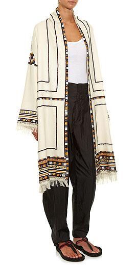 Isabel Marant Brayton fringed and embroidered coat