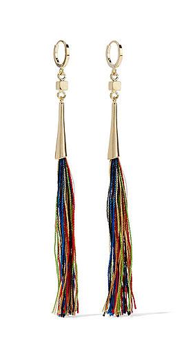 Isabel Marant Gold-plated tassel earrings