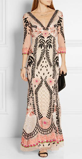 Temperley London Belle embroidered tulle gown