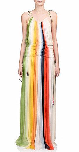 Chloé Rainbow Maxi Dress