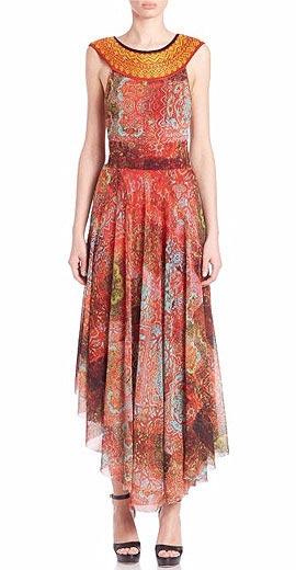 Fuzzi Bizantine-Print Dress