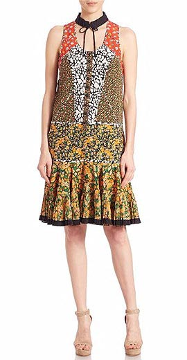 COACH 1941 Printed Front Placket Dress