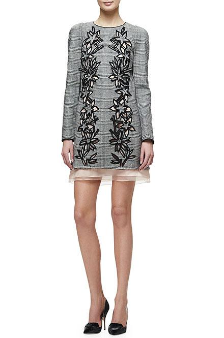 Carolina Herrera Price of Wales Plaid Shift Dress