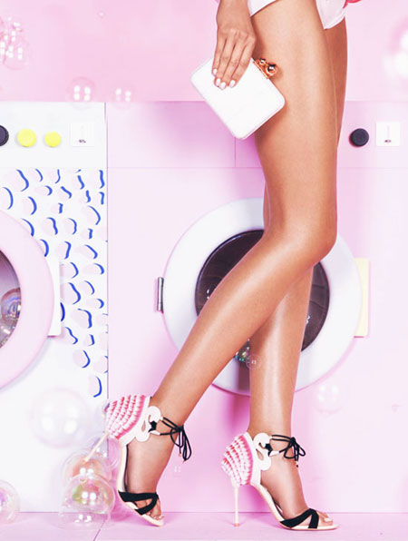 Sophia Webster Flamingo Frill Ankle-Wrap Sandal