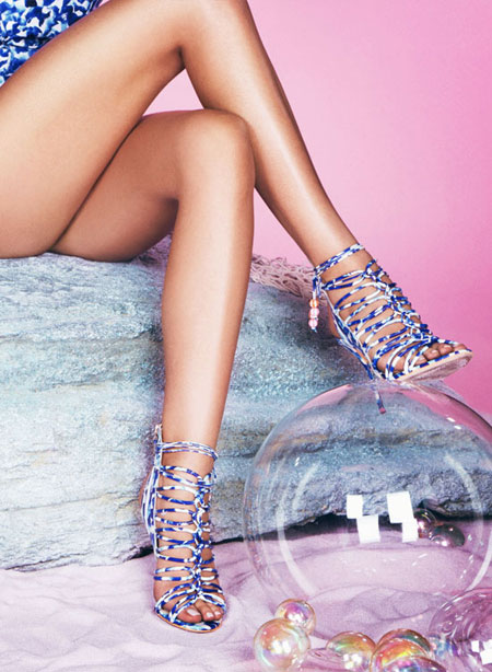 Sophia Webster Lacey Lace-Up Gladiator Sandal