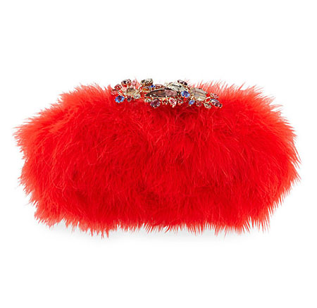 Alexander McQueen Marabou Feather Clutch Bag, Flame Red Marabou Feather Clutch Bag, Flame Red Marabou Feather Clutch Bag, Flame Red Marabou Feather Clutch Bag, Flame Red Alexander McQueen Marabou Feather Clutch Bag