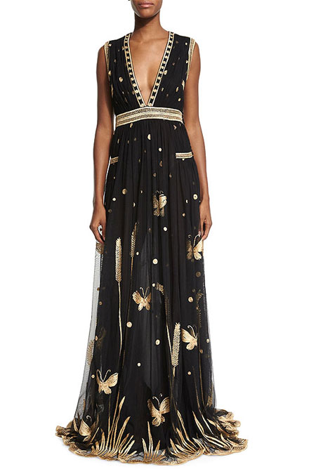DVF Vivanette Butterfly Maxi Dress