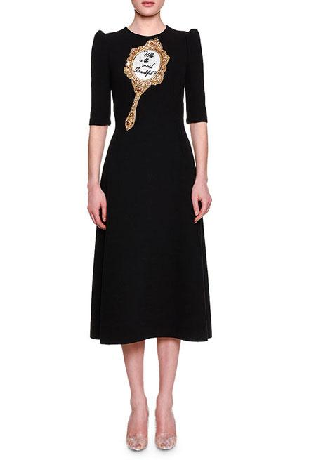 Dolce & Gabbana Most Beautiful Half-Sleeve Midi Dress, $5995