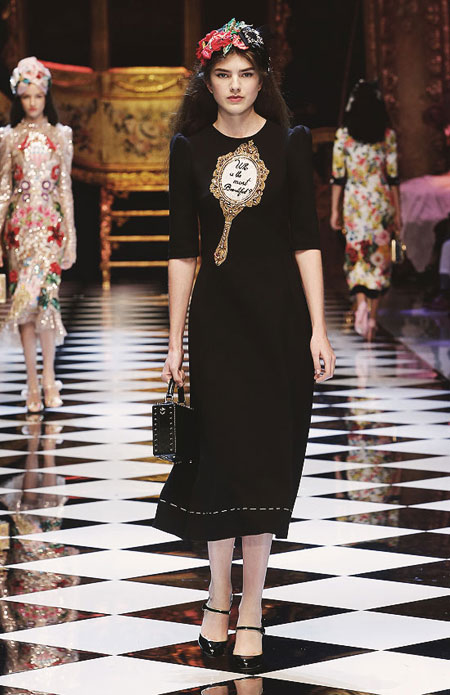 Dolce & Gabbana FW16 RTW Mirror Mirror Dress