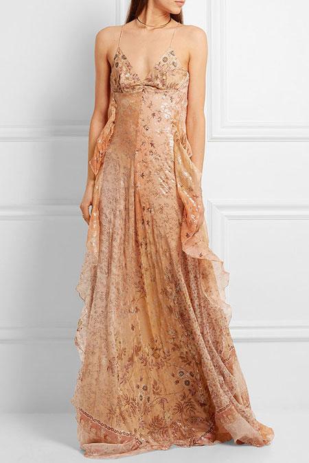 Etro Printed Silk-Floral Maxi Dress