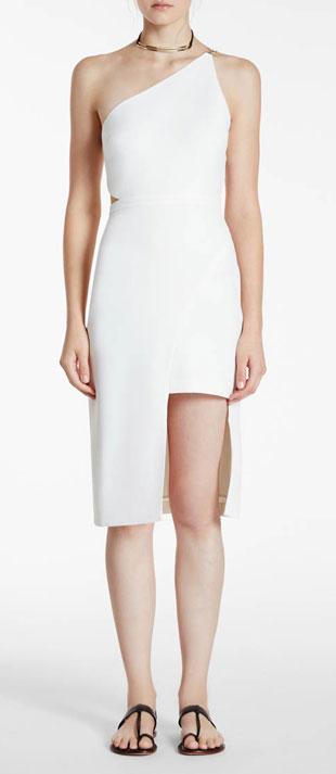 Halston Heritage One-Shoulder Asymmetric Dress