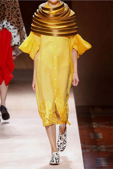 JUNYA WATANABE Oversized embroidered linen shirt dress