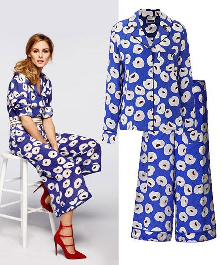 Olivia Palermo x Nordstrom Pajama Suit Set