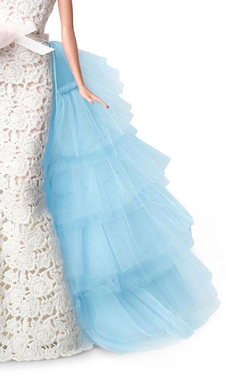 Oscar de la Renta Bridal Barbie Close up