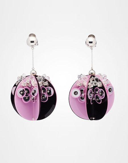 Prada Sequin ball earrings