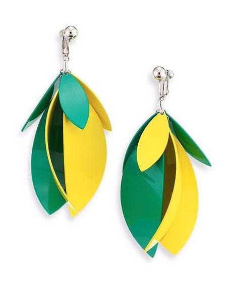 Proenza Schouler Colorblock Drop Earrings