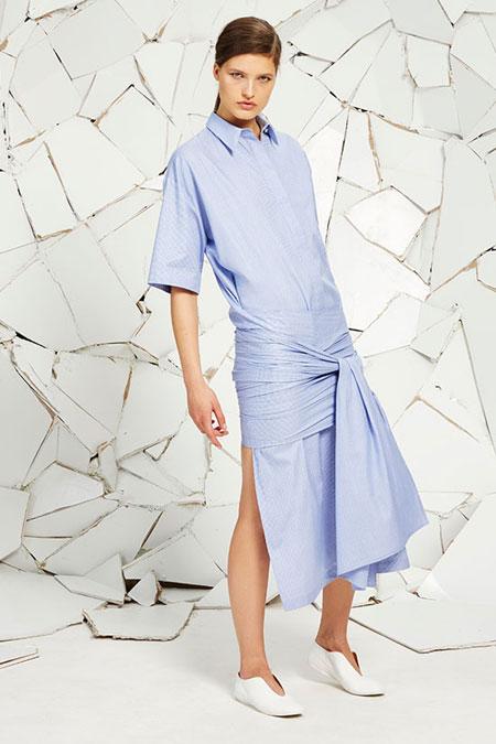 Stella McCartney Martine Dogtooth Wrap Dress