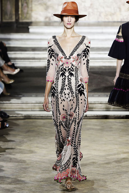 Temperley London Belle Embroidered Tulle Dress