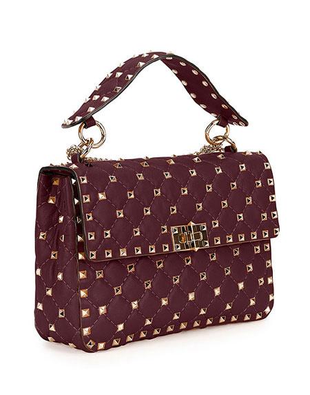 Valentino Rockstud Medium Matelasse Leather Shoulder Bag